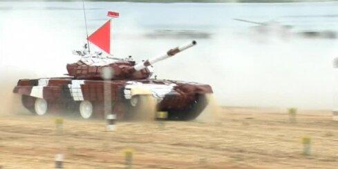 Krievijā noslēgušās sacīkstes tanku biatlonā