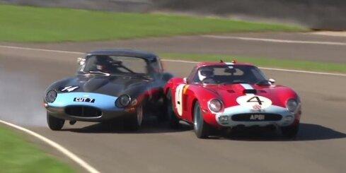 'Jaguar' izvairās no sadursmes ar 35 miljonu eiro 'Ferrari'