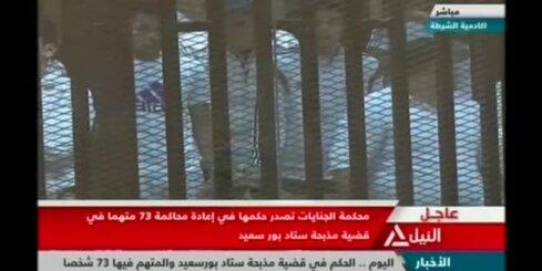 Ēģiptē 11 futbola līdzjutējiem par 2012.gada nekārtībām piespriež nāvessodu