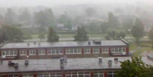 Lietus un vētra Jelgavā
