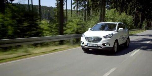 'Hyundai' sērijveida apvidnieks ar ūdeņraža spēka agregātu