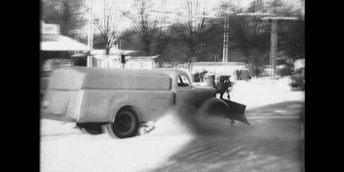 Kinožurnāls 'Padomju Latvija' Nr. 8, 1955.gads - sniega tīrītāji Rīgā