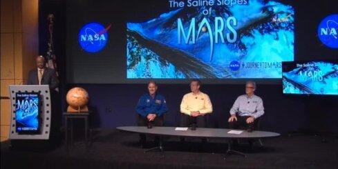 Pētnieki paziņo, ka uz Marsa atklājuši plūstošu ūdeni