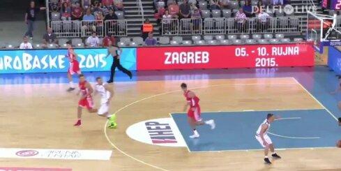 Igaunijas basketbolisti pārbaudes spēlē zaudē Horvātijai
