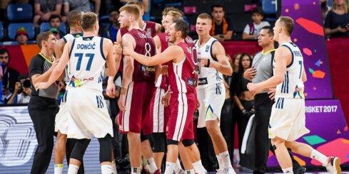 Video: Brīnummetieni, roku palaišana un Latvijas zaudējums 'Eurobasket 2017' ceturtdaļfinālā