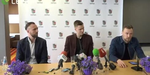 Basketbolista Kristapa Porziņģa preses konference