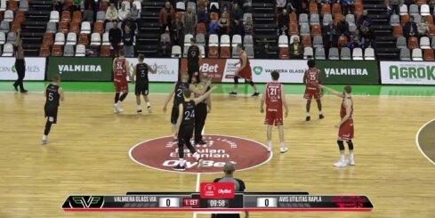 'OlyBet' basketbola līga: 'Valmiera glass/ViA' - Raplas 'Avis Utilitas'. Pilns ieraksts