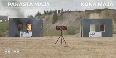 Video eksperiments par māju ugunsdrošību