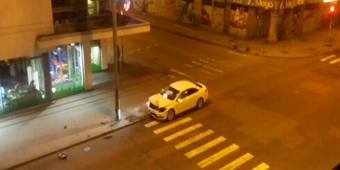 Auto avārija Čaka un Matīsa ielu krustojumā