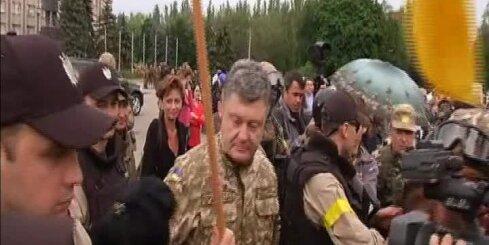 Porošenko ieradies Slovjanskā