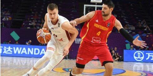 Porziņģis izbauda spēlēšanu Latvijas basketbola izlasē