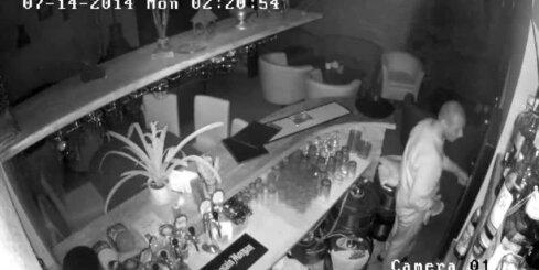 Lietuvā policija meklē bāra zagli