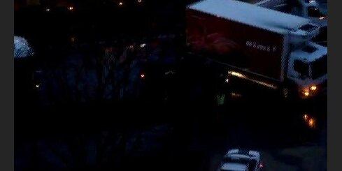 Rimi furgona avārija, trolejbusu sastrēgums