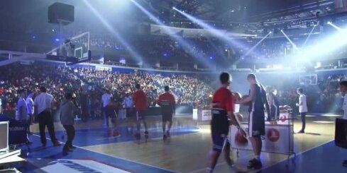 Lietuvas basketbola trīspunktu metienu konkursā uzvar sieviete