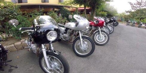'Mash' jauno motociklu testi Korsikā