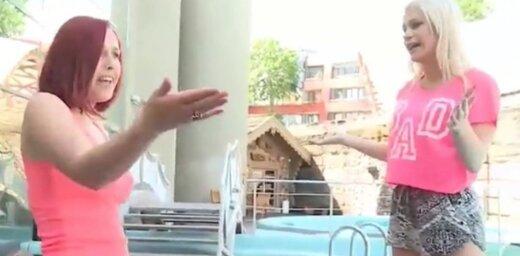 Krīze 'Netīrajās dejās': meitenes sakaujas un iezveļas baseinā