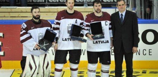 Masaļskis, Daugaviņš, Dārziņš - labākie Latvijas izlasē šajā PČ