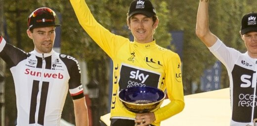 Izstādes laikā Birmingemā nosper 'Tour de France' čempiona trofeju