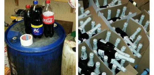 В Юрмале изъято большое количество нелегального алкоголя и сигарет, а также патроны