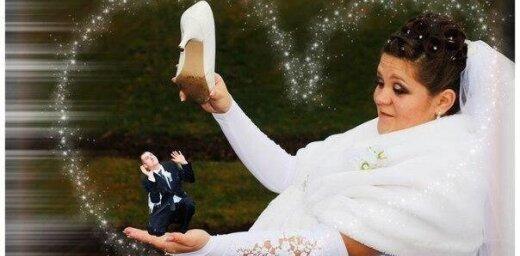'Fotošopa' brīnumi – smieklīgi kadri no krievu kāzām