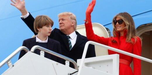 Foto: Melānija Trampa sajūsmina koķetā tēlā