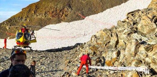 Альпинисты продолжают путь на Монблан, чтобы поднять на нем флаг Латвии