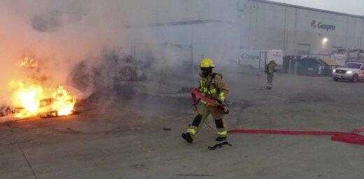 В Техасе пожарные дважды тушили самовоспламенившиеся чипсы