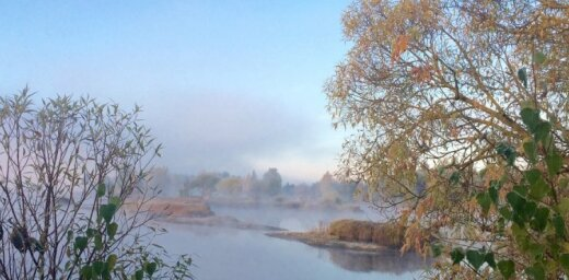 Foto kā gleznas: Neparasti skaists rīts Latvijā