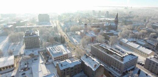 Skaistā Zemgales pērle Jelgava no dronu skatu punkta
