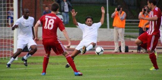 Fotoreportāža: 'Liepājas metalurgs' UEFA Eiropas līgas kvalifikācijas mačā sagrauj Sanmarino futbolistus