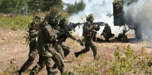 Минобороны: за пределами Адажской базы и впредь будут масштабные военные учения