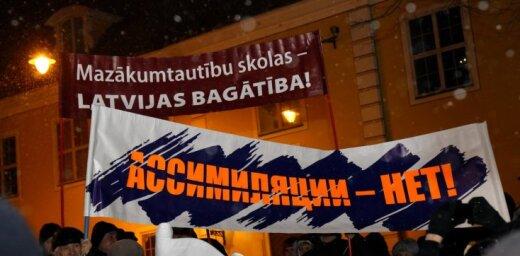 ФОТО: Новая акция в защиту русских школ; активисты хотят организовать референдум