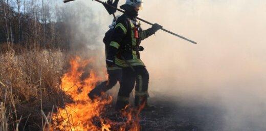 Stopiņu novadā pirmdien dzēsts paaugstinātas bīstamības ugunsgrēks