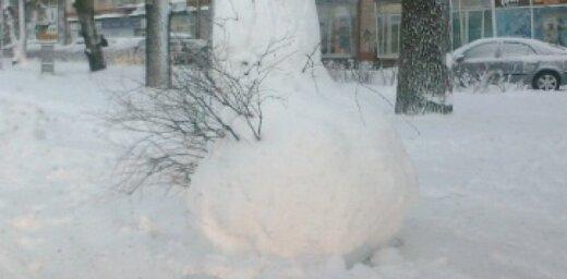 Erotisks 'sniegavīrs' Brīvības ielā