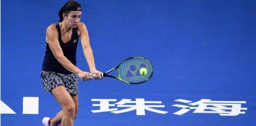 Sevastova neatrod argumentus pret Gērgesu un netiek 'WTA Elite Trophy' finālā