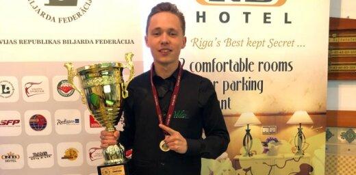 ВИДЕО: Юдин стал 14-кратным чемпионом Латвии по снукеру