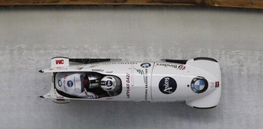 Ķibermanis/Miknis izcīna sudrabu Pasaules kausa pēdējā posmā olimpiskajā Phjončhanas trasē