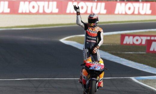 Stouners pirmo reizi karjerā triumfē Spānijas 'Grand Prix' izcīņā
