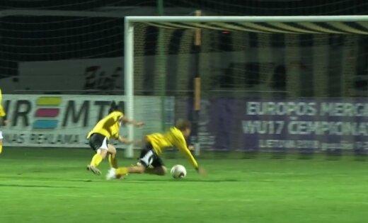 Video: Lietuvas futbolistes neveikli iznieko lielisku iespēju