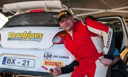 Jānis Vorobjovs nosargā Lietuvas rallija čempiona titulu