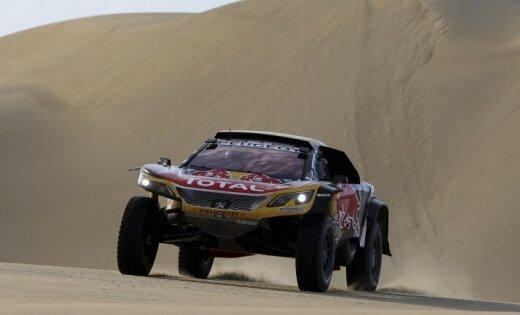 Peteransels pēc uzvaras Dakaras rallijreida piektajā posmā palielina pārsvaru kopvērtējumā