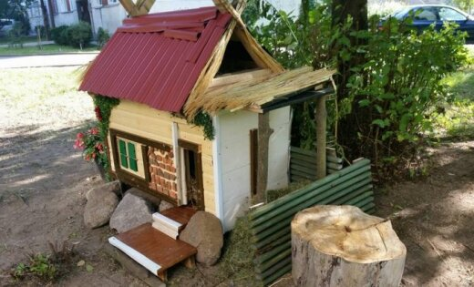 ФОТО: В Кенгарагсе построили сказочный домик для котов