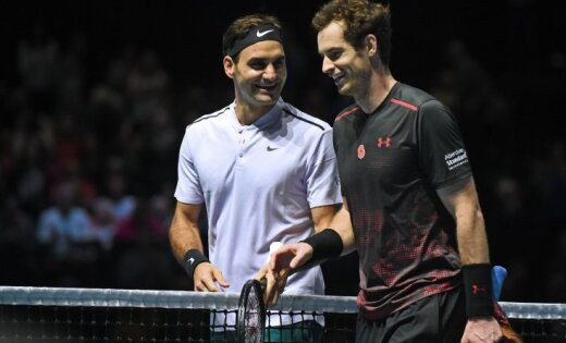 Федерер иМаррей провели благотворительный матч вГлазго