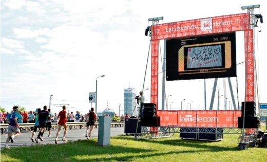 'Nordea' Rīgas maratona trasē plānots nosūtīt vairāk nekā 2000 virtuālos sveicienus