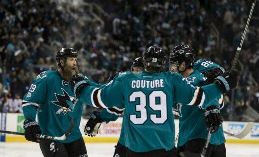 'Sharks' Stenlija kausā gūst septiņus vārtus un izcīna 'sauso' uzvaru