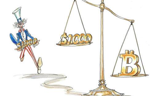 Курс биткоина взлетел выше четырех тысяч долларов