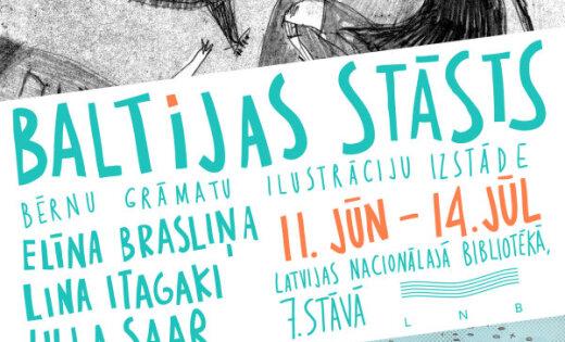 Bērnu grāmatu ilustratores zīmējumu izstādē rāda savu Baltijas stāstu