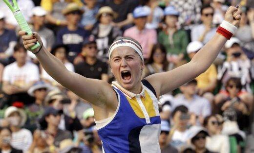 ФОТО, ВИДЕО: В Риге открылся теннисный холл имени Алены Остапенко