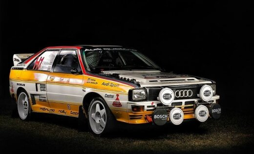 Ar Latvijā būvētu 'Audi Quattro' piedalīsies vēsturiskajā rallijā Sanmarīno