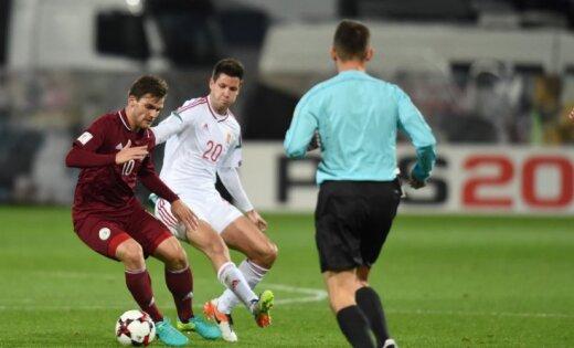 Latvijas futbola izlase ar zaudējumu Ungārijā sasniedz antirekordu